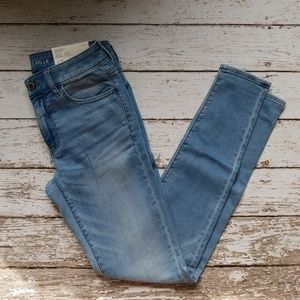 NEW AMERICAN EAGLE JEGGING JEANS 6 LONG